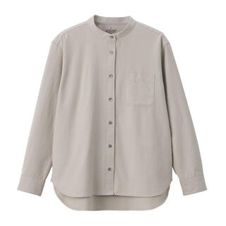 MUJI (無印良品) - 無印良品 洗いざらしオックススタンドカラーシャツ