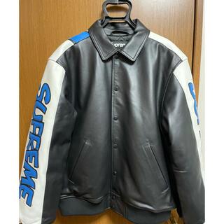 Supreme - SUPREME Smurfs Leather Varsity Jacket