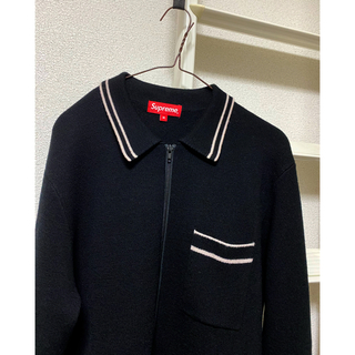 Supreme - supreme 16aw zip up polo sweater ジップニット