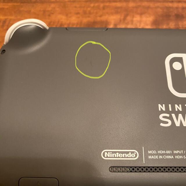 Nintendo Switch Liteグレー エンタメ/ホビーのゲームソフト/ゲーム機本体(家庭用ゲーム機本体)の商品写真