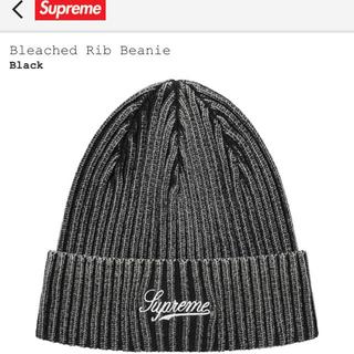 Supreme - Supreme Bleached Rib Beanie Black 黒 21SS