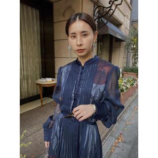 Ameri VINTAGE - Ameri vintage ELLA VEIL DRESS ネイビー田中みな実