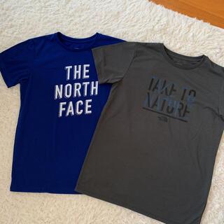 THE NORTH FACE - ノースフェイス Tシャツ 青 グレー M