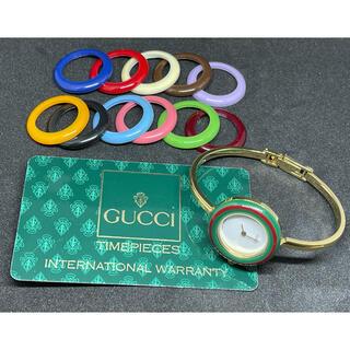 Gucci - GUCCI グッチ チェンジベゼル(12個)レディース腕時計