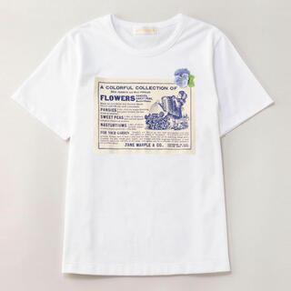 JaneMarple - Jane Marple オーガニック天竺ヴィオラベルTシャツ