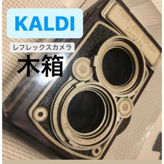 カルディ(KALDI)のKALDI 木箱 レフレックスカメラ チョコ カルディ(菓子/デザート)