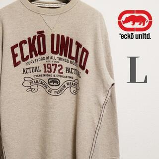 エコーアンリミテッド(ECKŌ UNLTD(ECKO UNLTD))のエコーアンリミテッド ロゴパッチ サーマル ロングスリーブTシャツ L 生成り(Tシャツ/カットソー(七分/長袖))