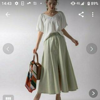 ラベルエチュード(la belle Etude)のデニムロングスカート  スリット入りデニムスカート(ロングスカート)