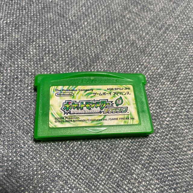 ポケモン(ポケモン)の(送料無料)(動作確認済)ポケットモンスターリーフグリーン エンタメ/ホビーのゲームソフト/ゲーム機本体(携帯用ゲームソフト)の商品写真