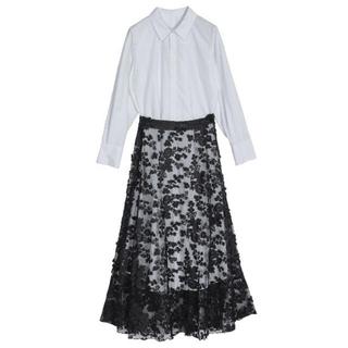 Ameri VINTAGE - ameri vintage LACE LAYERED SHIRT DRESS
