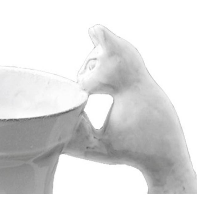 H.P.FRANCE(アッシュペーフランス)のAstier de Villatte  Setsuko Cat Vase 猫 インテリア/住まい/日用品のインテリア小物(花瓶)の商品写真