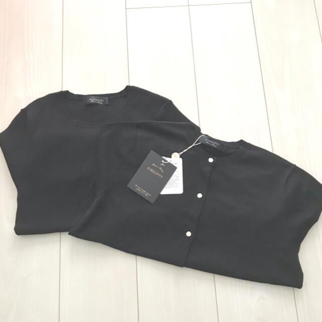JUSGLITTY(ジャスグリッティー)の新品未使用◆お洗濯可能◆JUSGLITTY 7分袖クルーネック レディースのトップス(アンサンブル)の商品写真
