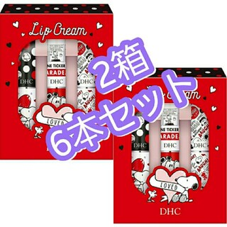 DHC - DHC 薬用リップクリーム スヌーピー 3本 x2セット モダン 数量限定