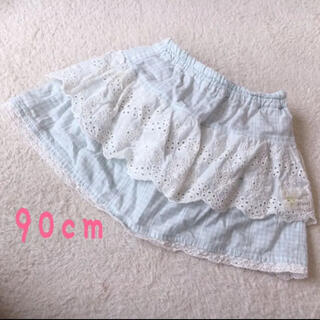 クーラクール(coeur a coeur)のクーラクール♡ギンガムチェックスカート 90cm(パンツ/スパッツ)