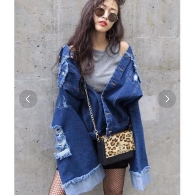 ENVYM(アンビー)のアンビー ワイドスリーブ ダメージ ジージャン レディースのジャケット/アウター(Gジャン/デニムジャケット)の商品写真