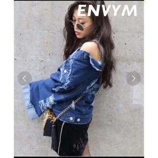 ENVYM - アンビー ワイドスリーブ ダメージ ジージャン