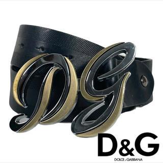 DOLCE&GABBANA - 美品 Dolce & Gabbana ベルト シルバーxゴールド 筆記体