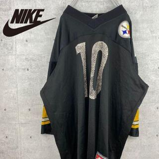 NIKE - 【 NIKE 】Tシャツ ゲームシャツ デカロゴ ヴィンテージ レア 90s