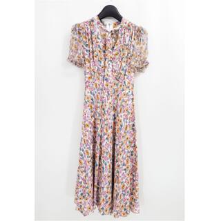 DOLCE&GABBANA - ドルチェ&ガッバーナ レトロ フラワー シルク ロング ドレス ワンピース