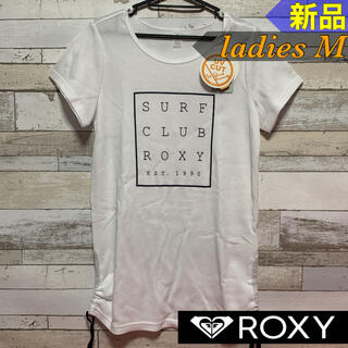 Roxy - ROXYロキシー Tシャツ SURF CLUB レディースM ホワイト 新品