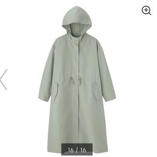 GU - 【GU】美品 / ドローストリングフーデッドコート