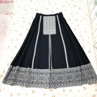 アトリエドゥサボン(l'atelier du savon)のカルドファブリカ♡クラシカルな刺繍のロングスカート(ロングスカート)