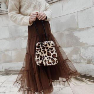 treat ürself  leopard fur bag(ハンドバッグ)