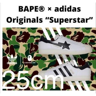 adidas - 【 BAPE X ADIDAS 】SUPERSTAR 80S BAPE 25cm
