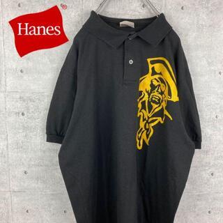 ヘインズ(Hanes)の【 stedman ✖️ hanes 】ポロシャツ 90s ヴィンテージ 古着(ポロシャツ)