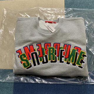 Supreme - Supreme Stacked Crewneck Grey