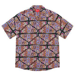 Supreme - supreme 20FW perspective rayon shirt