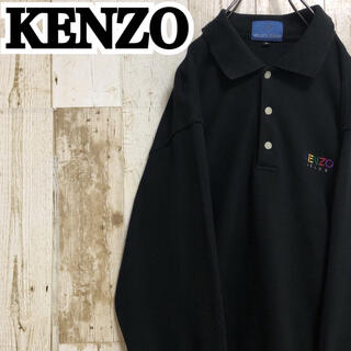 KENZO - 【ケンゾー】【ワンポイント】【ロゴ刺繍】【襟ロゴ刺繍】【シャツ/長袖ポロシャツ】