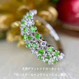 天然 デマントイドガーネット ダイヤモンド 計0.44×0.13ct PT900