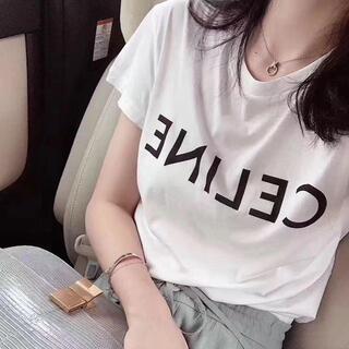 celine - 1744CELINEセリーヌ 丸襟半袖Tシャツ 5800円2枚 送料無料