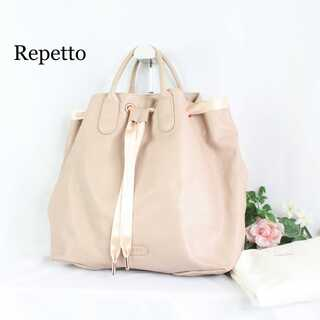 repetto - レペット★アラベスク サテンリボン トートバッグ 大容量 ピンク 人気