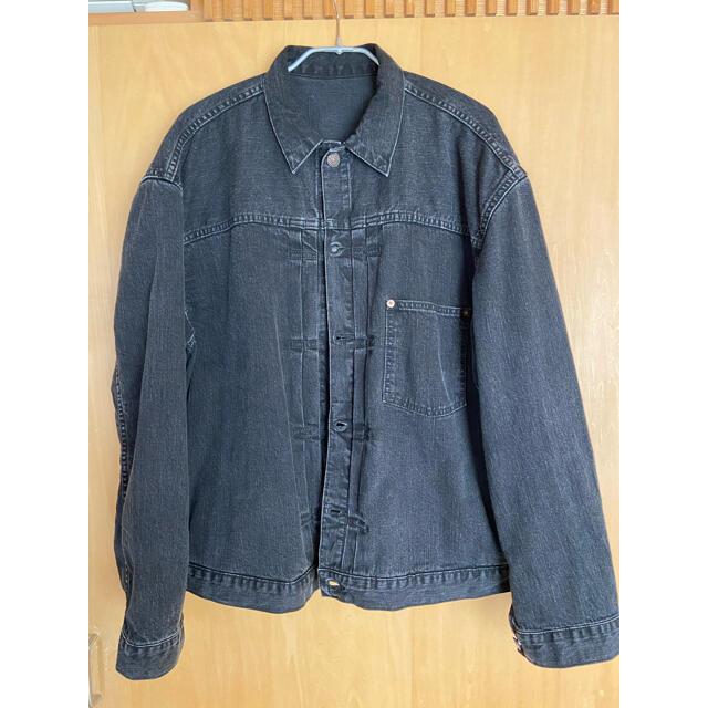 L'Appartement DEUXIEME CLASSE(アパルトモンドゥーズィエムクラス)のL'Appartement BLACK DENIM JACKET レディースのジャケット/アウター(Gジャン/デニムジャケット)の商品写真