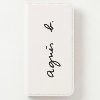 agnes b. - アニエスベー agnes b ロゴ 手帳型 レザー iPhoneケース 白