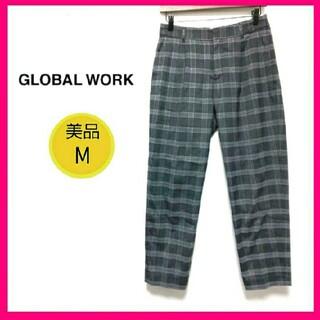 GLOBAL WORK - ♡美品♡グローバルワーク チェック テーパードパンツ グレー M パンツ ズボン