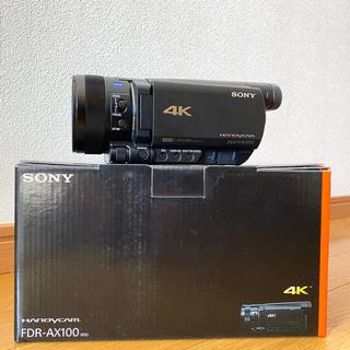 SONY - SONY 4K ビデオカメラ FDR-AX100 メモリーカード セット
