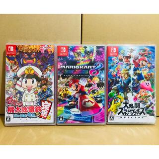 Nintendo Switch - 3台 ●桃太郎電鉄 ●マリオカート8 ●スマッシュブラザーズ