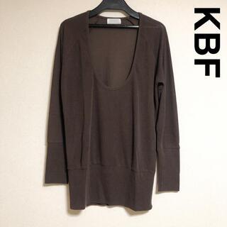 ケービーエフ(KBF)のKBF 深Uネックレーヨン混ロンT トップス(Tシャツ(長袖/七分))