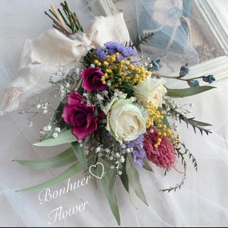 春香る花束ブーケスワッグ インテリア フォトスワッグ 前撮り プレゼント(ドライフラワー)