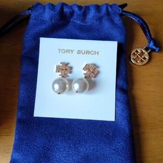 Tory Burch - TORY BURCH パール ロゴ ピアス