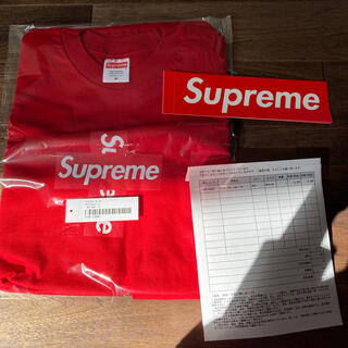 Supreme - Supreme cross box logo tee Mサイズ レッド