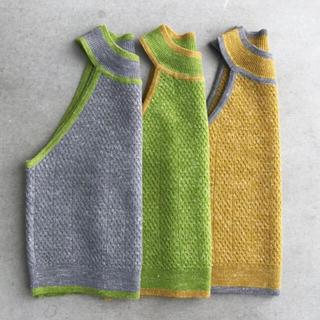アリシアスタン(ALEXIA STAM)のPiping American Sleeve Knit  JUEMI(カットソー(半袖/袖なし))