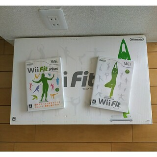 Wii - (3/2まで)Wii Fit バランスボード ソフト2本セット