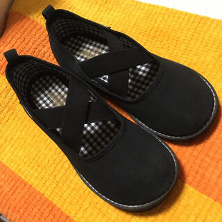 familiar - ファミリア スリッポン 19 黒 ブラック フォーマル シューズ 靴 子供