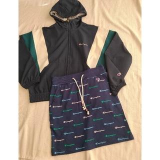 Champion - チャンピオン ゴルフジップフードジャケット スカート Lサイズセット