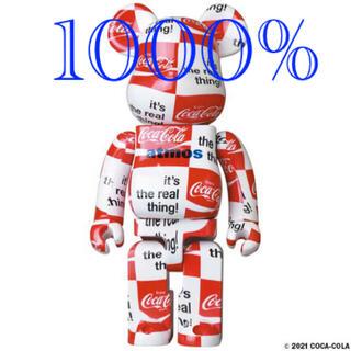 メディコムトイ(MEDICOM TOY)のBE@RBRICK atmos × Coca-Cola 1000% チェッカー(その他)