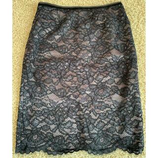 ボールジィ(Ballsey)のBallsey ボールジィ レースタイトスカート 紺(ひざ丈スカート)